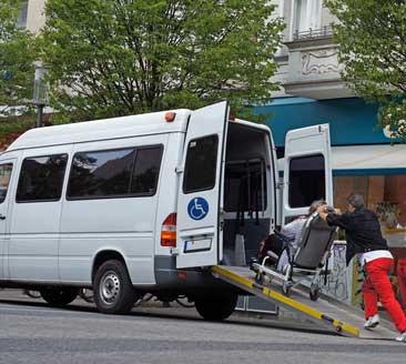 Fahrdienst für Behinderte